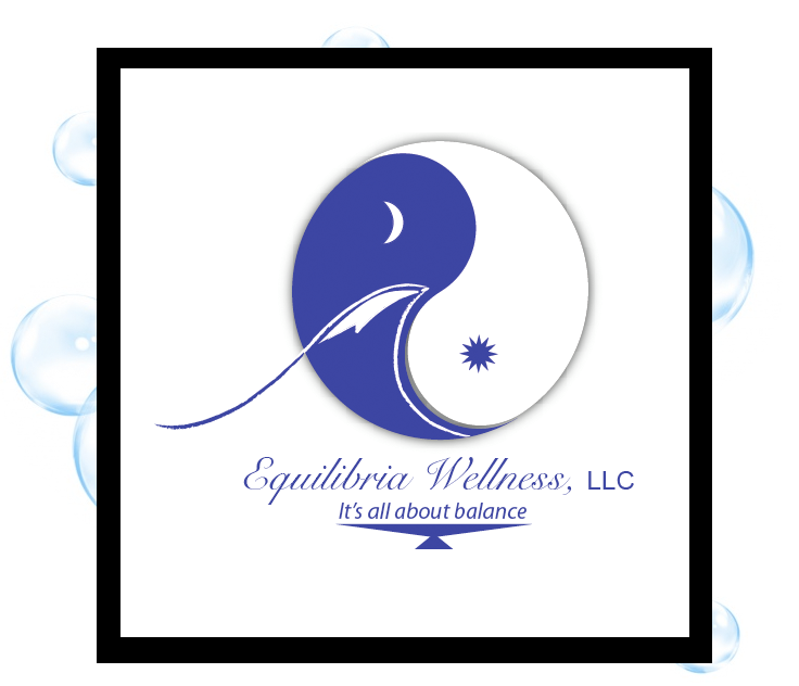 Equilibria Wellness Logo: Thirsty Fish Graphic Design
