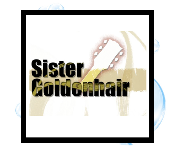 Sister Golden Hair Logo: Thirsty Fish Graphic Design