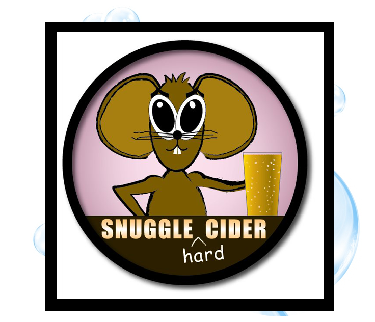 Snuggle Cider Logo: Thirsty Fish Graphic Design