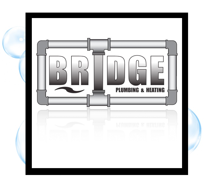 Bridge Plumbing & Heating Logo: Thirsty Fish Graphic Design
