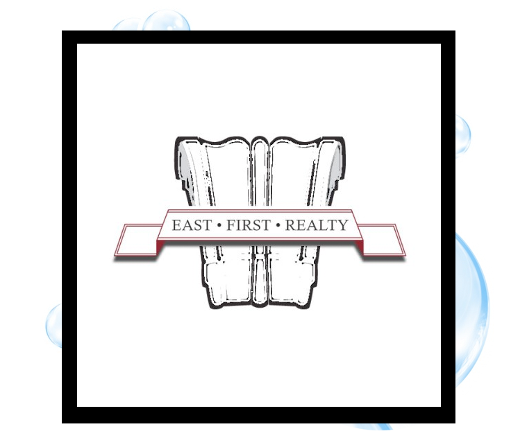 East First Realty Logo: Thirsty Fish Graphic Design