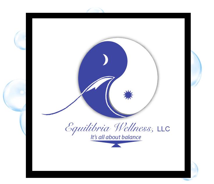 Equilibria Wellness Logo: Thirsty Fish Graphic Design