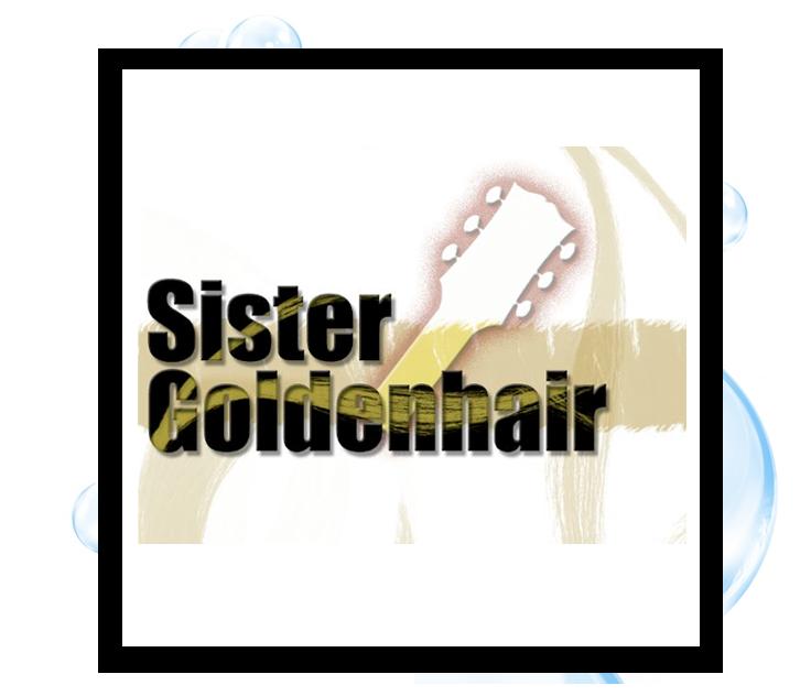 Sister Golden Hair Logo: Thirsty Fish Graphic Design