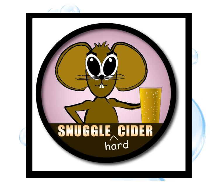 Snuggle Cider Logo: Thirsty Fish Graphic Design
